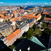 Copenhagen Panorama--From Vor Frelsers Kirke (Church of Our Savior)
