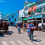 Bikes and Horses, Mackinac Island